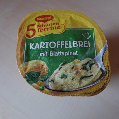 "#721: Maggi 5 Minuten Terrine ""Kartoffelbrei mit Blattspinat"""