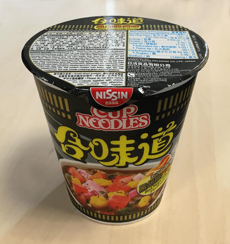 """Nissin Cup Noodles """"Black Pepper Crab Flavour"""""""