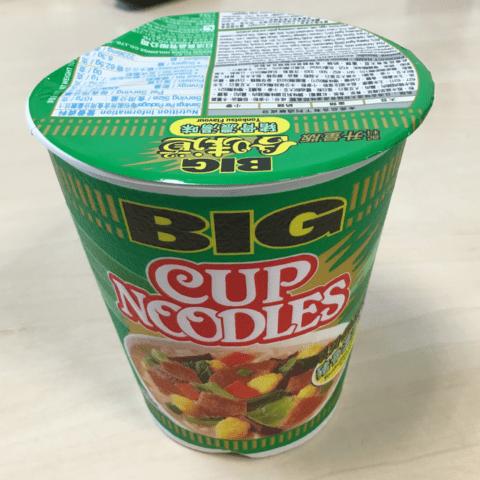 "#747: Nissin Cup Noodles Big Cup ""Tonkotsu Flavour"""