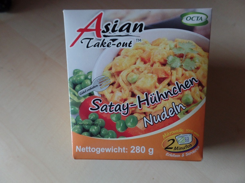 "#724: Octa Asian Take-out ""Satay-Hühnchen Nudeln"""