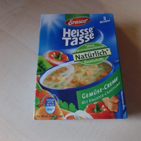 "#725: Erasco Heisse Tasse ""Gemüse-Creme"""