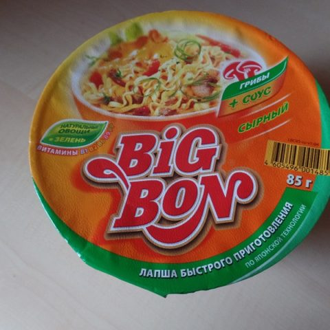 "#746: Big Bon Instant Noodles ""Mushrooms + Sauce Cheese"" Cup"