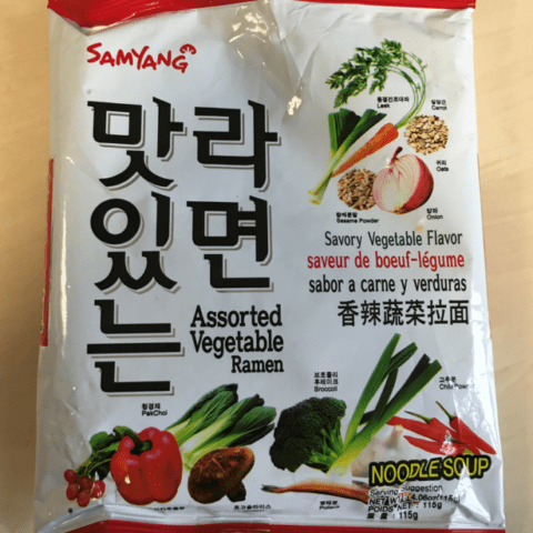 "#734: Samyang ""Savory Vegetable Flavour"" Assorted Vegetable Ramen"