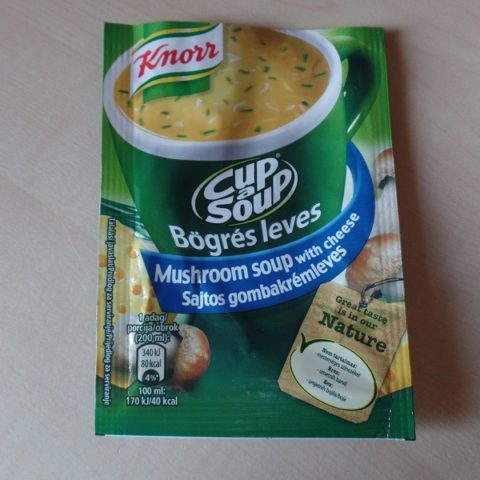 "#776: Knorr Cup a Soup ""Mushroom Soup with Cheese"""