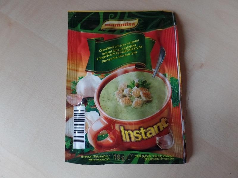 "#799: mammita ""Instant juha od češnjaka s prepečenim komadićima kruha"""