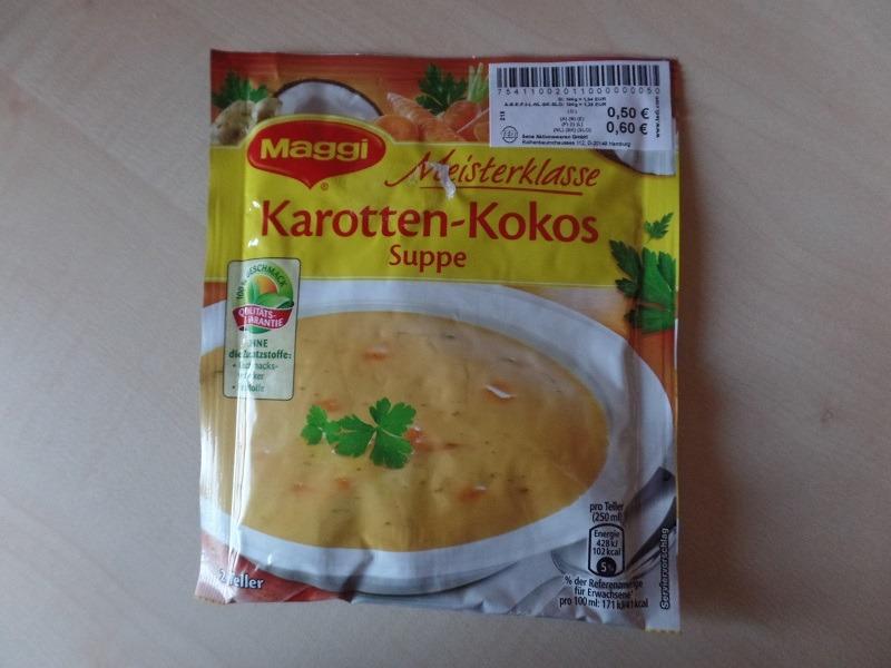 """#805: Maggi Meisterklasse """"Karotten-Kokos Suppe"""""""