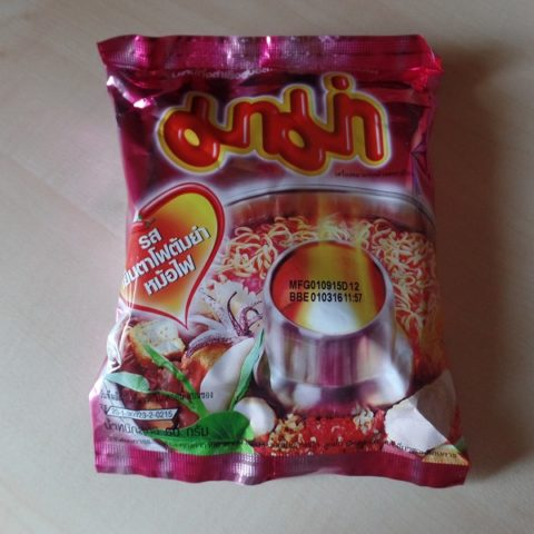 """#815: Mama Instant Noodles """"Yentafo Tom Yum Mohfai Flavour"""""""