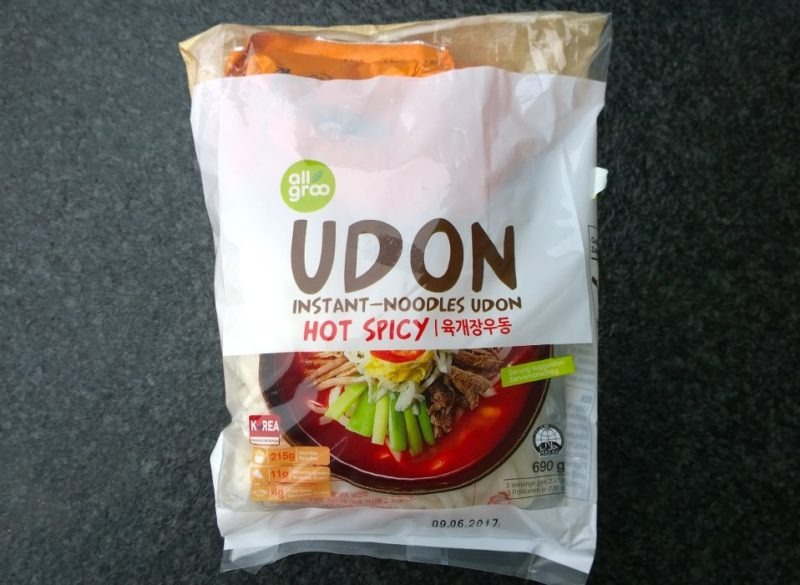 """#833: all groo Udon Instant-Noodles """"Hot Spicy"""""""