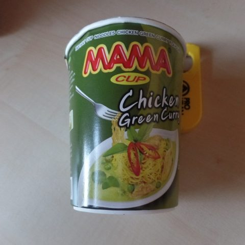 """#816: Mama Instant Cup Noodles """"Chicken Green Curry Flavour"""""""