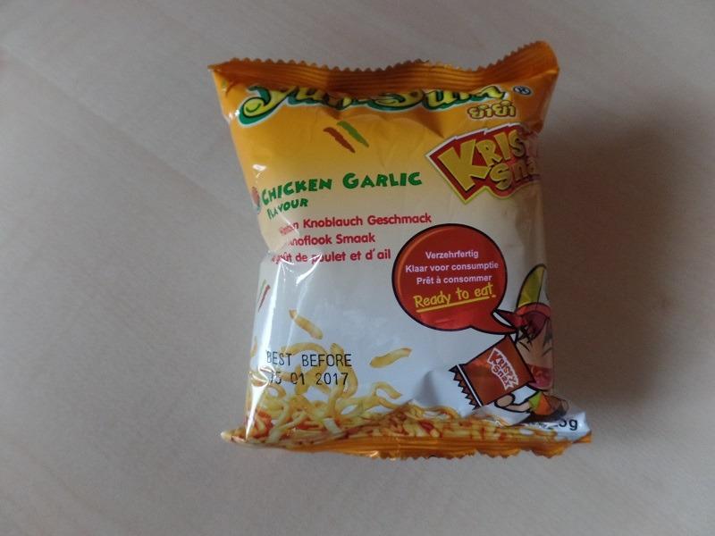 """#827: YumYum """"Krispy Snax"""" Chicken Garlic Flavour"""