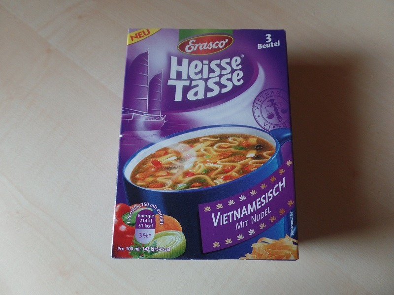 "#840: Erasco Heisse Tasse ""Vietnamesisch mit Nudel"""