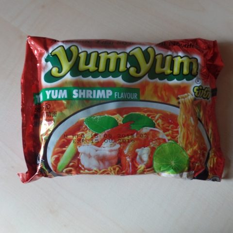 "#872: YumYum Authentic Thai Style Instant Noodles ""Tom Yum Shrimp Flavour"""