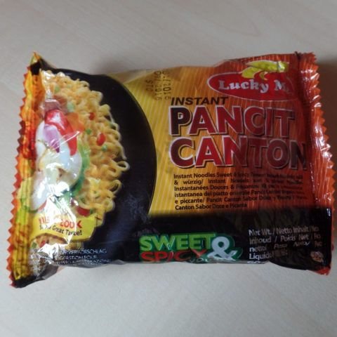 "#888: Lucky Me! ""Instant Pancit Canton"" Sweet & Spicy Flavour"
