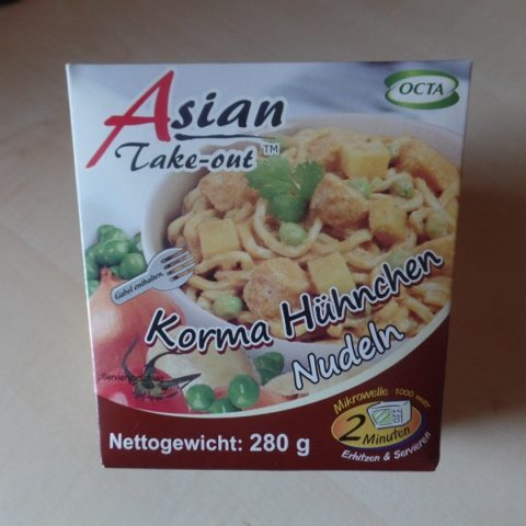 "#928: Octa Asian Take-out ""Korma Hühnchen Nudeln"""