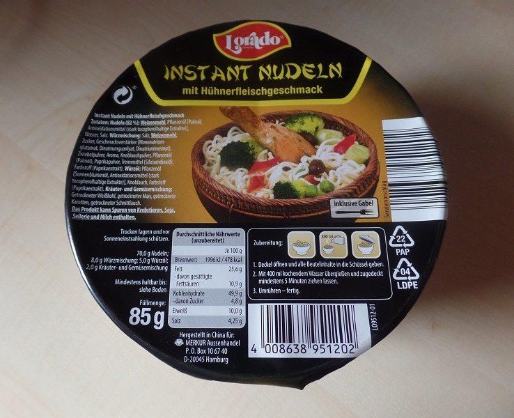 """#941: Lorado """"Instant Nudeln mit Hühnerfleischgeschmack"""" (Bowl)"""
