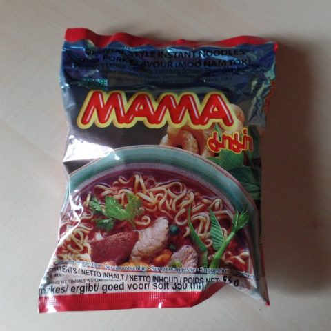 "#978: Mama Oriental Style Instant Noodles ""Spicy Pork Flavour - Moo Nam Tok"" (Update 2021)"