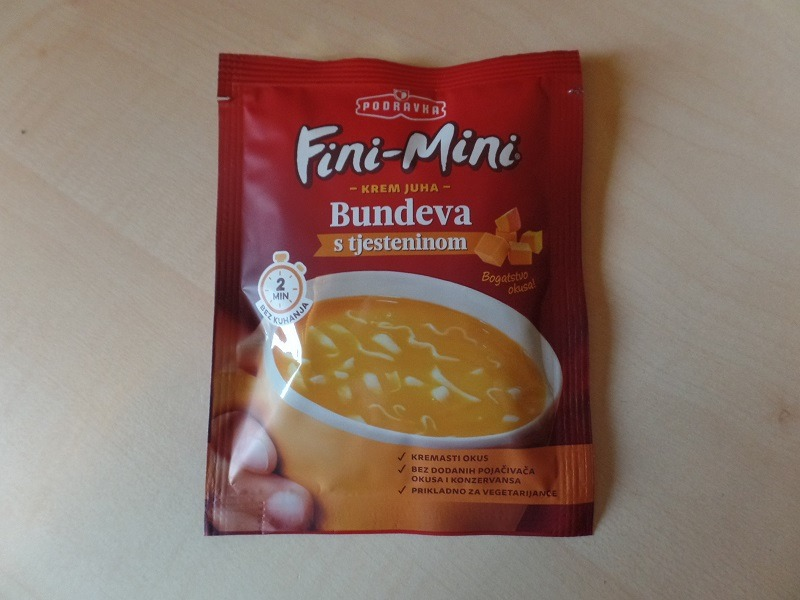 "#981: Podravka Fini-Mini ""Krem Juha Bundeva s tjesteninom"""