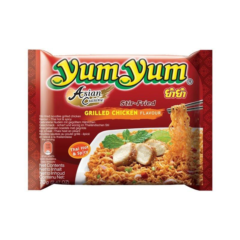 """#986: YumYum """"Grilled Chicken Flavour"""" Stir-Fried Nudeln (Update 2021)"""
