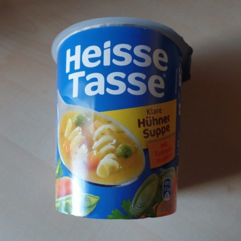 "#990: Erasco Heisse Tasse ""Klare Hühner Suppe"" Cup"