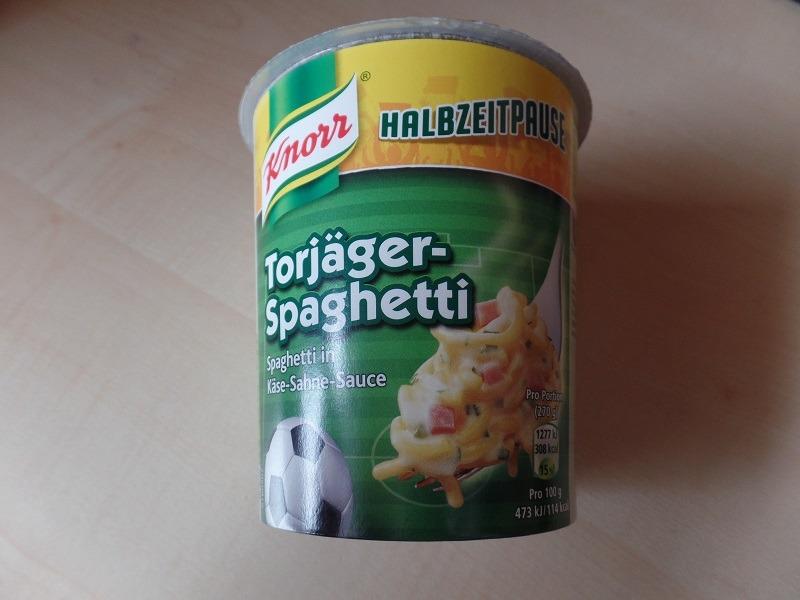 """#1026: Knorr Halbzeitpause """"Torjäger-Spaghetti"""" (Spaghetti in Käse-Sahne Sauce)"""