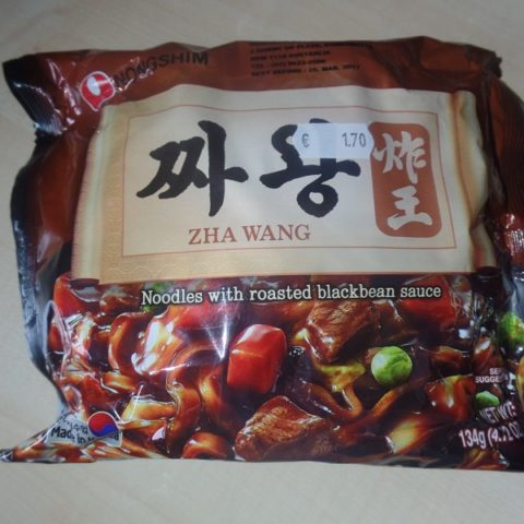 "#1072: Nongshim ""Zha Wang"" (Noodles with Roasted Blackbean Sauce)"