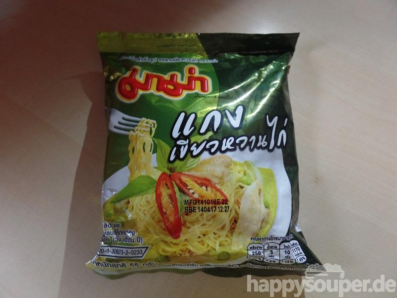 """#1100: Mama Instant Noodles """"Chicken Green Curry Flavour"""""""