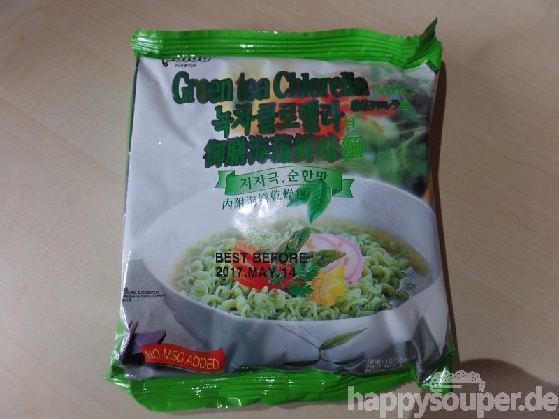 "#1122: Paldo ""Green Tea Chlorella Noodles"""
