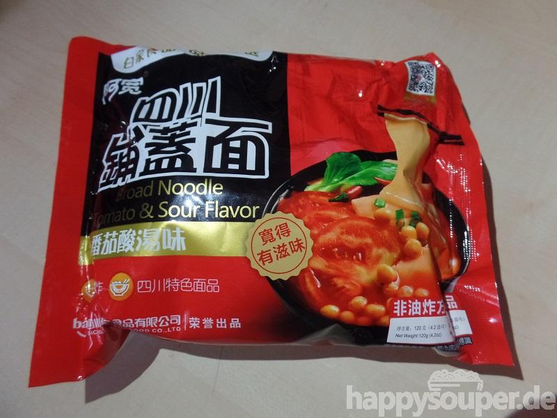 """#1203: Sichuan Baijia """"Broad Noodle Tomato & Sour Flavor"""" (2017)"""