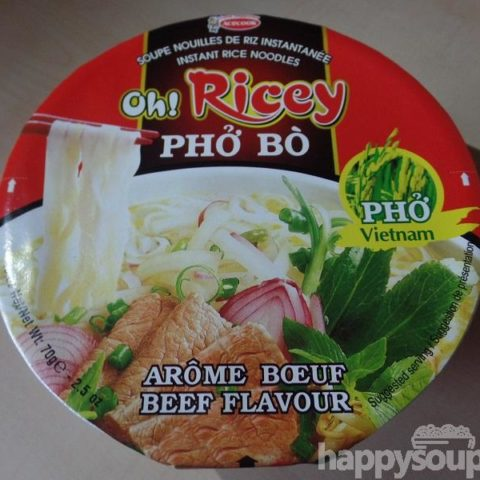 "#1224: Acecook ""Oh! Ricey Phở Bò"" (Instant Rice Noodles Beef Flavour) Bowl"