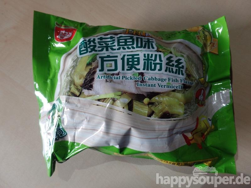 """#1232: Sichuan Baijia """"Artificial Pickled Cabbage Fish Flavor"""" Instant Vermicelli"""