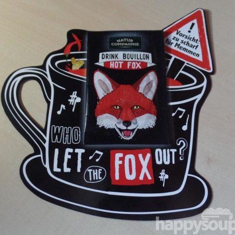 """#1236: Natur Compagnie """"Drink Bouillon Hot Fox"""""""