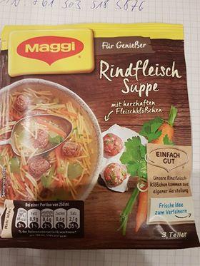 """#1270: Maggi """"Rindfleischsuppe mit herzhaften Fleischklößchen"""""""