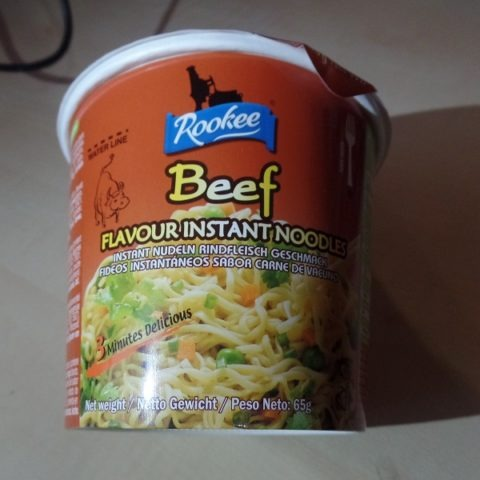 "#1250: Rookee ""Beef Flavour Instant Noodles"" Bowl"