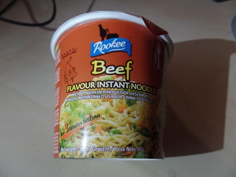 """#1250: Rookee """"Beef Flavour Instant Noodles"""" Bowl"""
