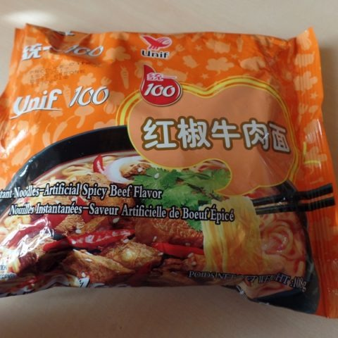 "#1279: Unif 100 ""Instant Noodles Artificial Spicy Beef Flavor"""