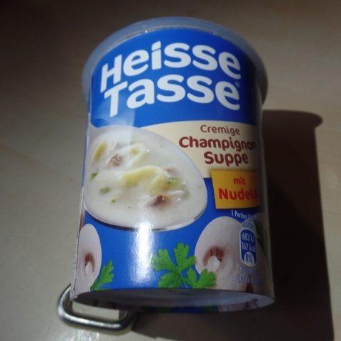 """#1287: Erasco Heisse Tasse """"Cremige Champignon Suppe mit Nudeln"""" Cup"""