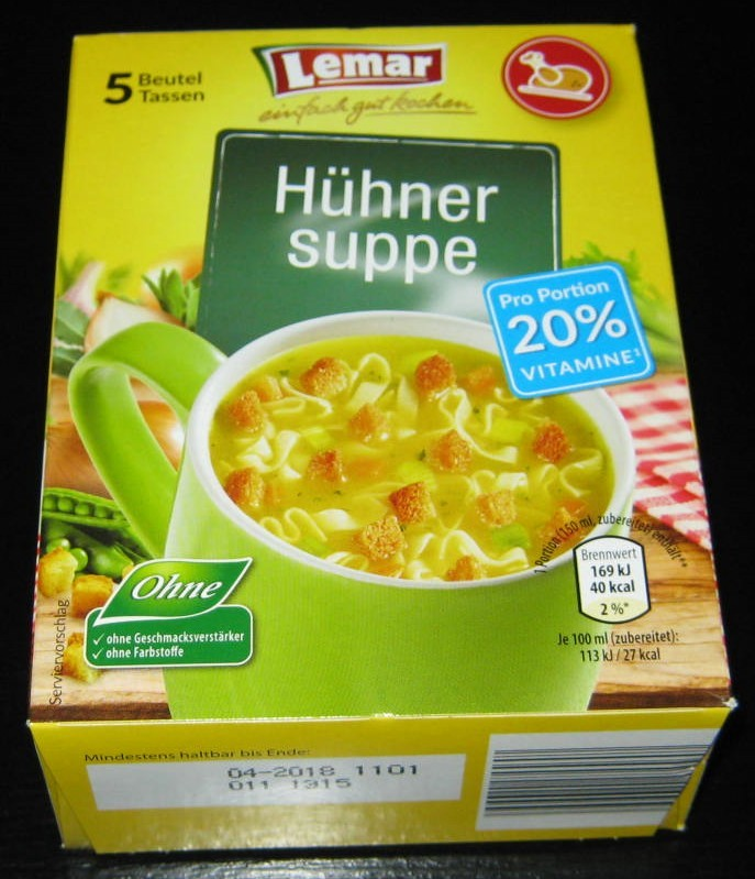 """#1306: Lemar """"Hühner Suppe"""""""