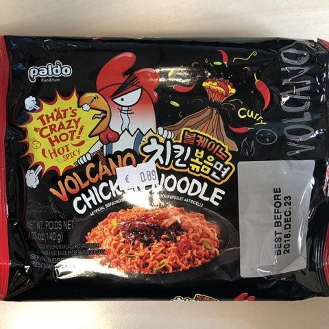 "#1309: Paldo ""Bolkeino Kkokko Bokkeummyeon (Volcano Chicken Noodle)"""