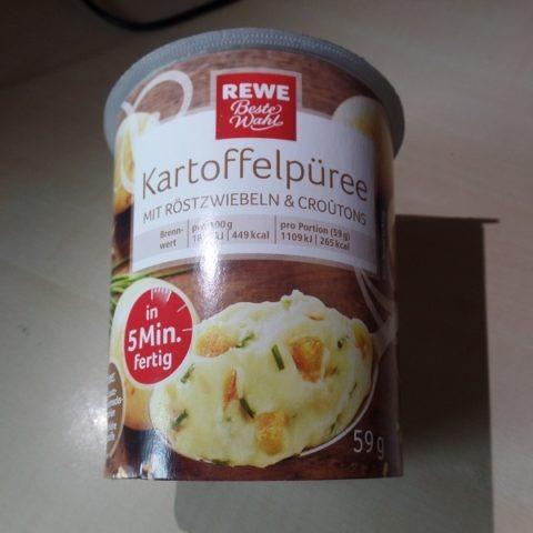 """#1336: REWE Beste Wahl """"Kartoffelpüree mit Röstzwiebeln & Croûtons"""""""