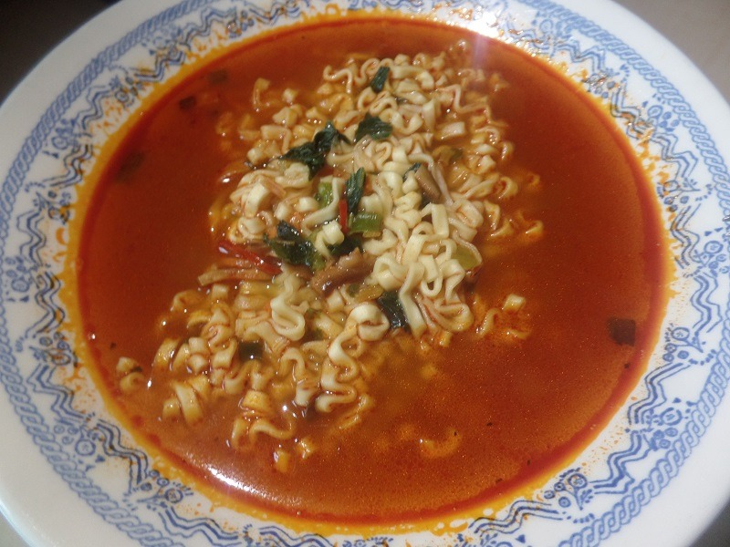 """#1340: Pulmuone """"Non-Fried Ramyun with Spicy Beef Broth"""""""
