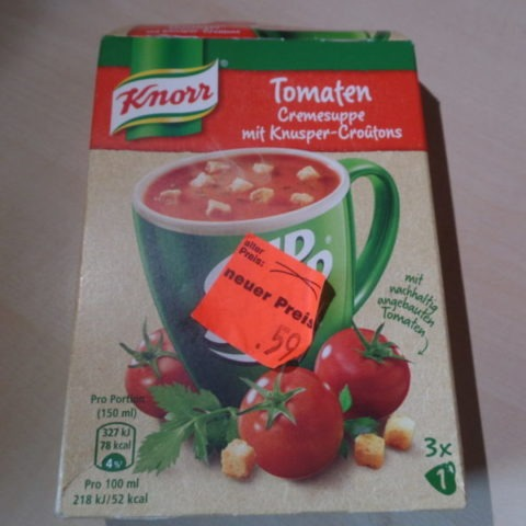 "#1373: Knorr Cup a Soup ""Tomaten Cremesuppe mit Knusper-Croûtons"""