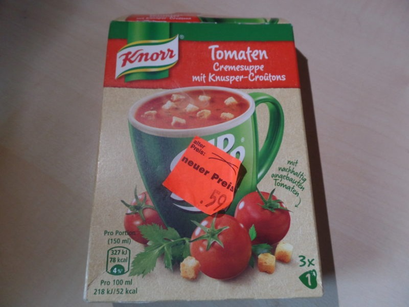 """#1373: Knorr Cup a Soup """"Tomaten Cremesuppe mit Knusper-Croûtons"""""""