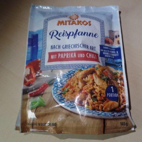 """#1424: Mitakos """"Reispfanne nach Griechischer Art mit Paprika und Chili"""""""
