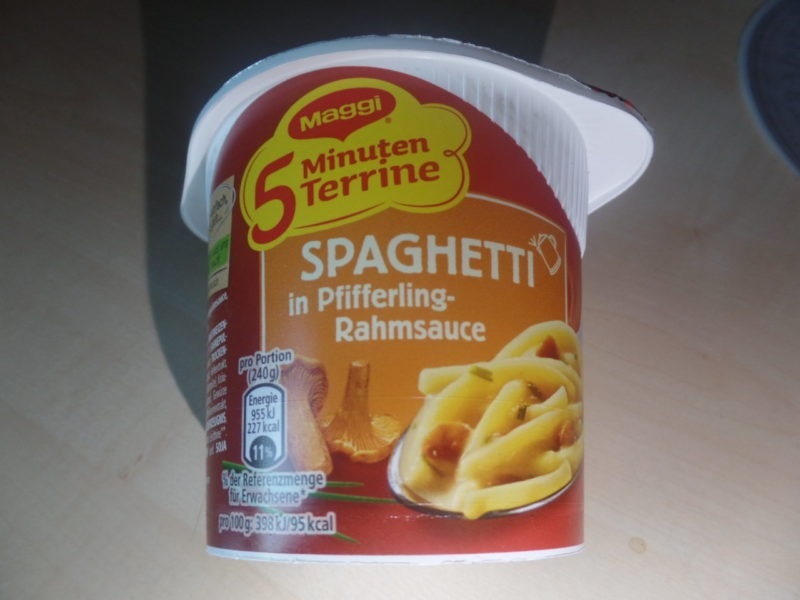 "#1441: Maggi 5 Minuten Terrine ""Spaghetti in Pfifferling-Rahmsauce"""