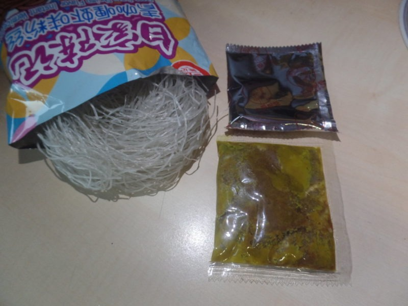 "#1446: Sichuan Baijia ""Green Curry Shrimp Flavor"" Instant Vermicelli"