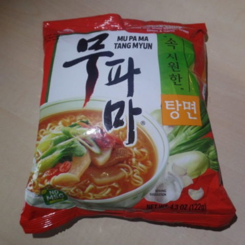 """#504: Nongshim """"Mu Pa Ma Tang Myun"""" (Spicy Vegetable Noodle Soup)"""