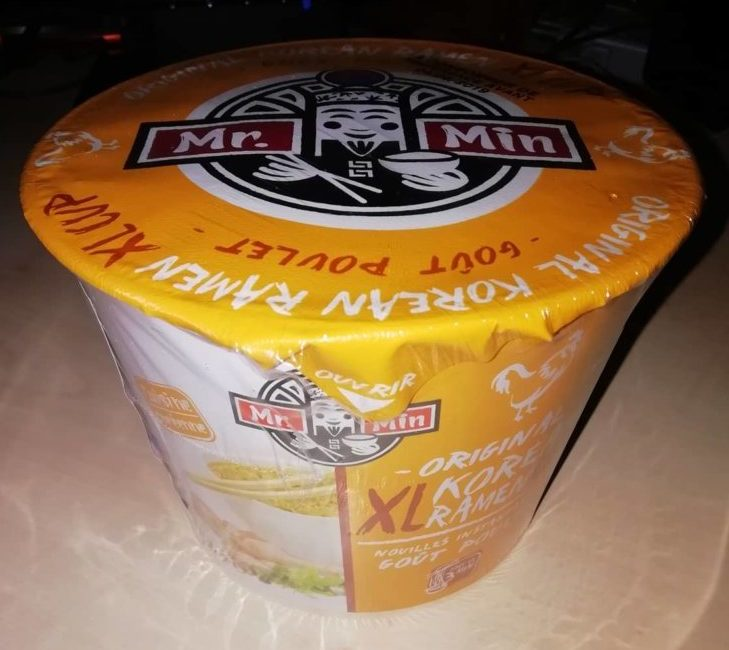 "#1585: Mr. Min Original Korean Ramen XL Cup ""Goût Poulet"""