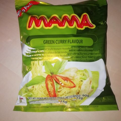"#1590: Mama""Oriental Style Instant Noodles"" Green Curry Flavour (Jumbo Pack)"
