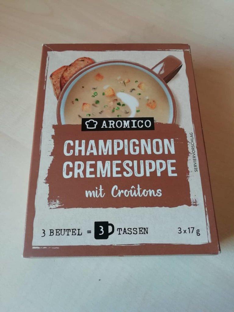 "#1598: Aromico ""Champignon Cremesuppe mit Croûtons"""