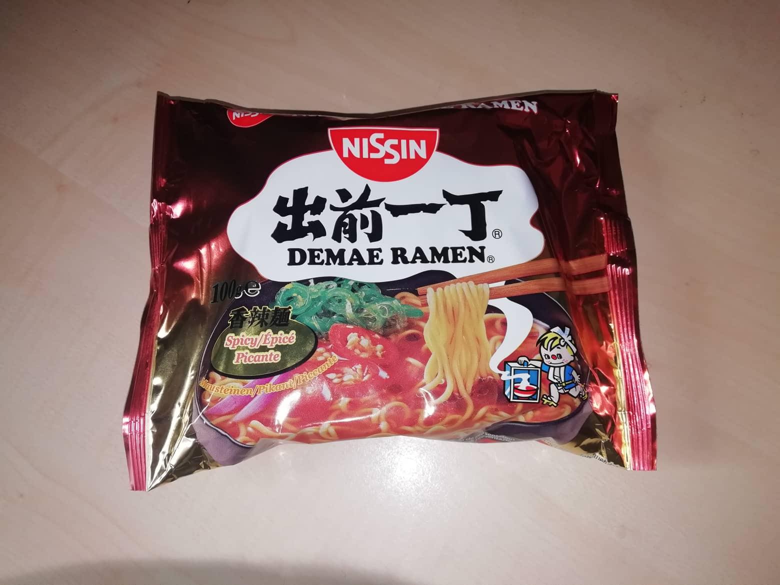 """#1593: Nissin Demae Ramen """"Spicy"""" (2019) (Update 2021)"""
